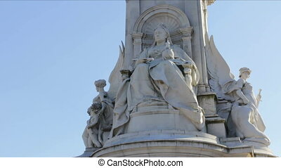 Queen Victoria Statue in London, Great Britain, between St. James' Park and Buckingham Palace.