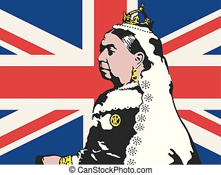 Queen Victoria Vector Illustration. - Drawing of Victoria,...