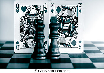 Queens and Kings - Queen and King playing cards with Queen ...