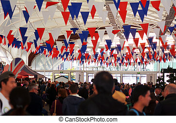 AUCKLAND, NZ - JUNE 01 2014:Queen's Birthday party. Many New Zealanders celebrate the Queen's Birthday on the first Monday of June each year, as the Queen of the United Kingdom being the head of state.
