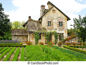 Queen's Hamlet, Marie Antoinette's farmhouse village at Versailles, France
