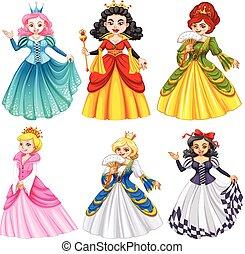 Queens in beautiful dresses