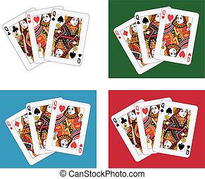 Queens tris - queens tris four different arrangements and...