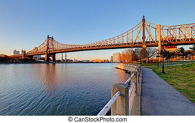 Queensboro Bridge, New York City at sunrise