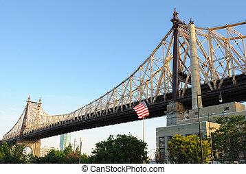 Queensboro Bridge seen from roosevelt island in New York City