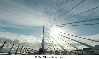 Queensferry Crossing bridge near Firth of Forth bay,...