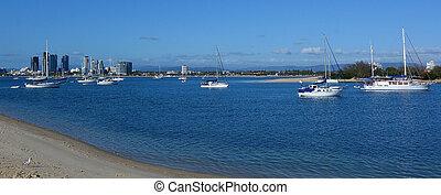 queensland, australia, broadwater, costa oro
