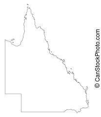 queensland, mapa