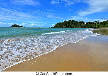 queensland, plage, cairns, australie, ellis