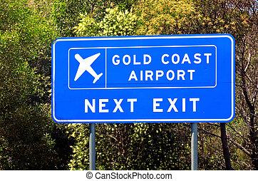 queensland, repülőtér, ausztrália, gold part