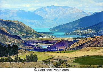 Landscape of Queenstown, New Zealand.