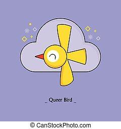 queer bird yellow