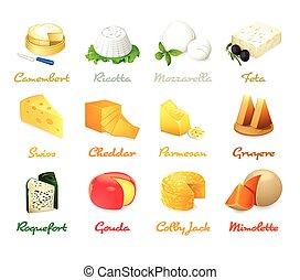 queijo, ícones