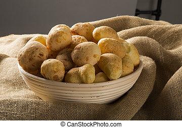 queijo, bread., tradicional, brasileiro, alimento