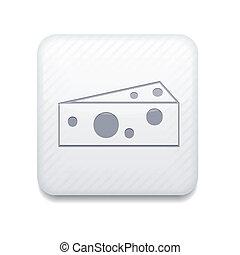 queijo, editar, eps10., vetorial, fácil, branca, icon.