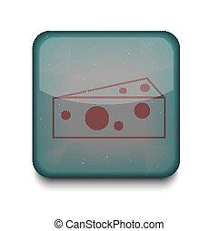 queijo, editar, eps10., vetorial, fácil, icon.