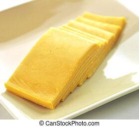 queijo, fatias