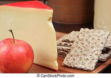queijo, gouda, platter