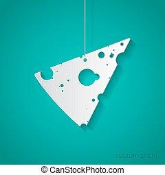queijo, icon., vetorial, eps10