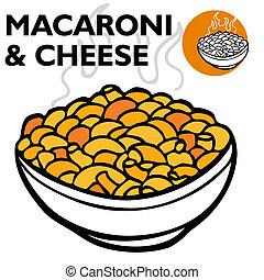 queijo, macarrão