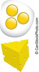 queijo, ovos