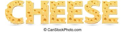 queijo, palavra, de, cheese.