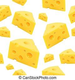 queijo, seamless., triangular, textura, vetorial, pedaço