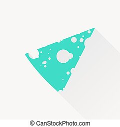 queijo, vetorial, ícone