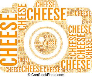 queijo, vetorial, câmera, foto