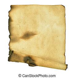 queimado, manuscrito