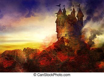 queimadura, castelo