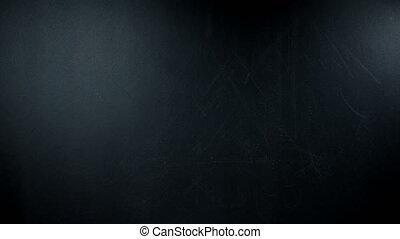 quel, blackboard., écrit, timelapse, question, main, craie, écrit, heated.