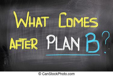 quel, concept, après, b, plan, vient