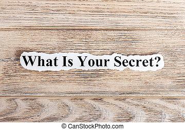 quel, concept, mot, texte, paper., déchiré, ton, top secret, image