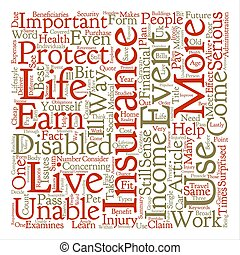 quel, est, incapacité, assurance, mot, nuage, concept, texte, fond