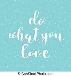 quel, love., lettering., brosse, vous