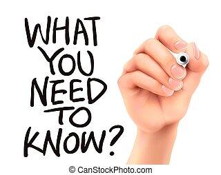 quel, main écrite, savoir, besoin, vous