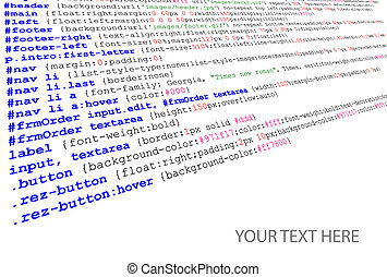 quelle, stylesheet, code, auflistung