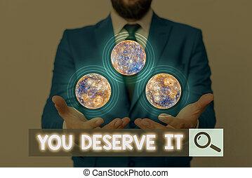 quelque chose, fait, image, projection, écriture, business, vous, deserve, showcasing, note, récompense, éléments, photo, meublé, ceci, reconnaissance, récompense, puits, nasa., it.