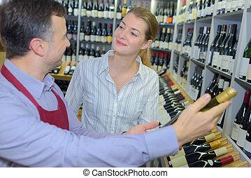 quelques-uns, bouteilles, achat, vin