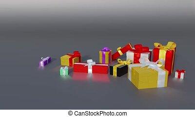 quelques-uns, coloré, balles, popup, apparaître, dons, ...