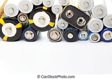quelques-uns, différent, électronique, envoyer à la casse, piles