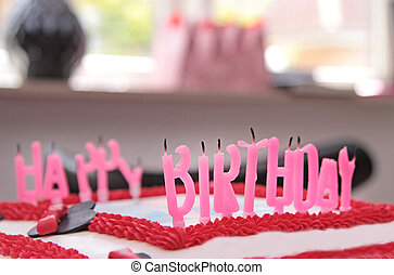 Quenched candles on a birthday cake