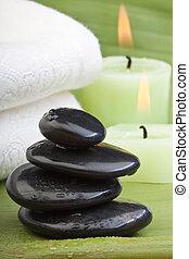quentes, (2), pedra, tratamento
