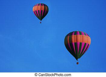 quentes, balões, ar