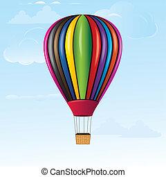 quentes, céu, balloon, ar