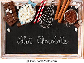 quentes, chocolate.