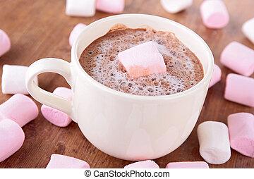 quentes,  chocolate