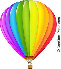 quentes, coloridos, balloon??, ar