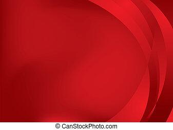 quentes, fluxo, aba, vermelho